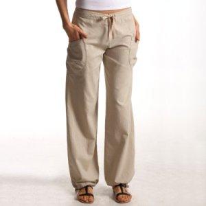Pantalon femme lin,coton coupe large