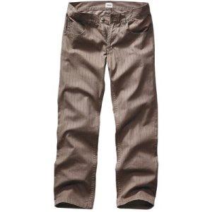 Pantalon 5 poches rayé longueur 34