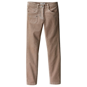 Pantalon slim velours morpho mince fille